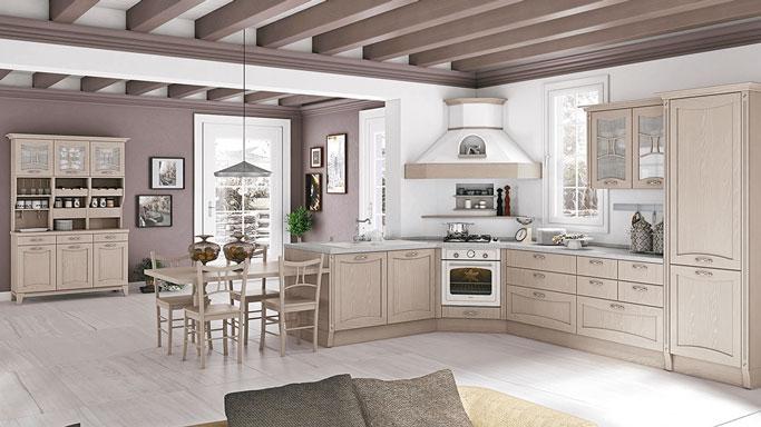 cucina Aurea creo legno chiaro