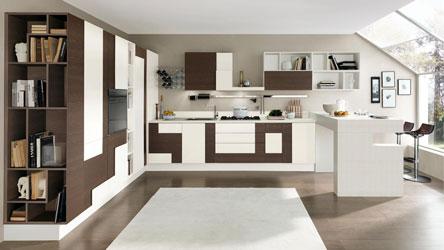cucina creativa con particolari geometrie
