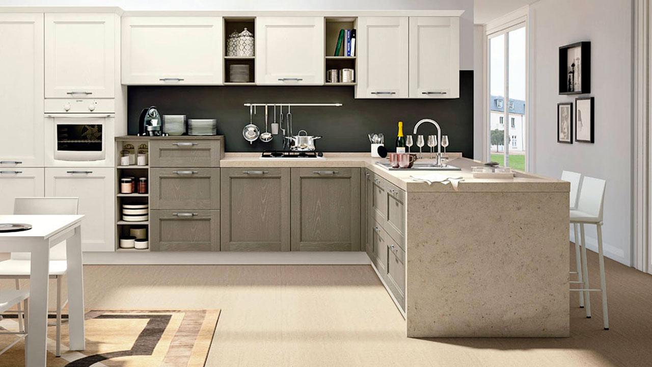 cucina iris con particolari in marmo